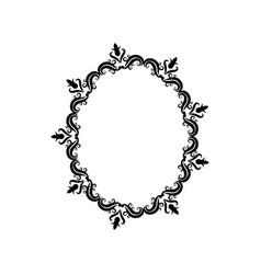 vintage border frame crest ornate decoration vector image