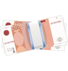 A stack of money Currency - the ruble vector image