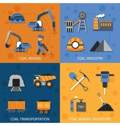 Coal Industry Set vector image