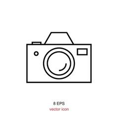Foto camera simple icon vector