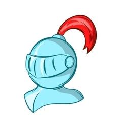 Medieval helmet icon cartoon style vector image vector image
