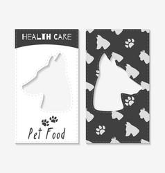 pet food shop business cards vector image