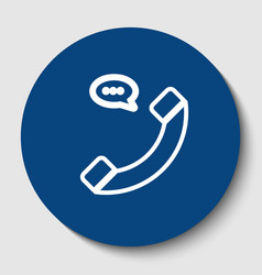 phone with speech bubble sign white vector image