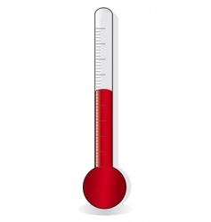 red thermometer vector image vector image