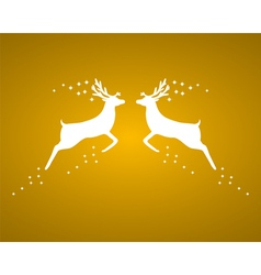 Reindeer silhouettes vector image
