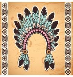 Tribal native American feather headband vector image vector image