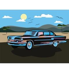 Vintage watercolor Retro car vector image