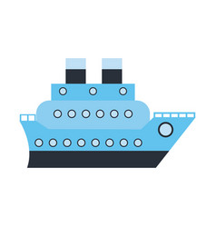 boat cruise travel sea vector image