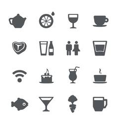 cafe restaurant icons set vector image vector image