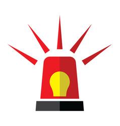 emergency light vector image vector image