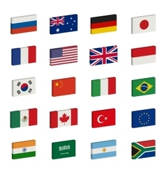 Flags icons vector image