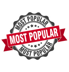 most popular stamp sign seal vector image