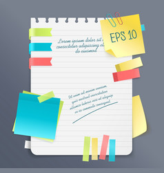 paper note composition vector image vector image
