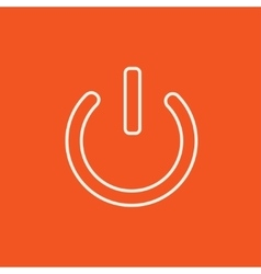Power button line icon vector image