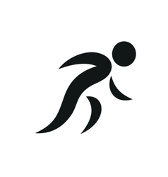 Running people Simple symbol of run isolated vector image