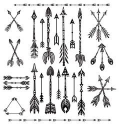 Set of ethnic tribal arrows vector image vector image