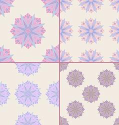 Set of Seamless Patterns With Mandala Motifs vector image