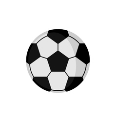 Soccer football icon in flat style vector image