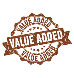 value added stamp sign seal vector image