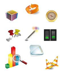 3d icon 2 vector image