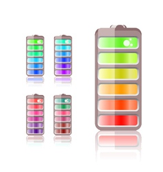 battery icon in different colors vector image