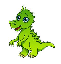 cartoon dinosaur isolated vector image vector image