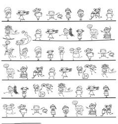 hand drawing Chinese New Year cartoon character vector image vector image