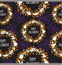 Happy halloween seamless background vector