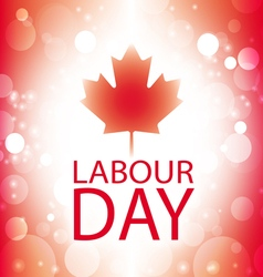 Labour day canada banner with canadian flag vector