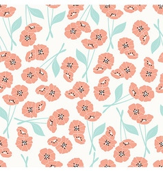 pattern with flowers and floral elements vector image