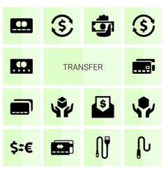 14 transfer icons vector