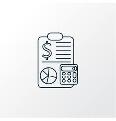 accounting icon line symbol premium quality vector image