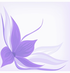 Backdrop with lilac flower vector