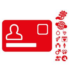 banking card icon with love bonus vector image