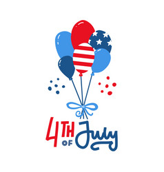 bunch usa balloons with american flag isolate vector image