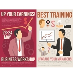 Business Training Consulting Flat Vertical Banners vector image