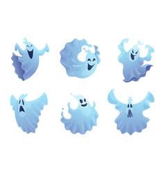 Cartoon ghost friend smile spooky buster vector