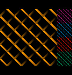 Cellular grid mesh pattern with shade interlaced vector
