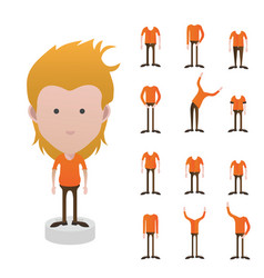 character with different types of body bigtallfa vector image