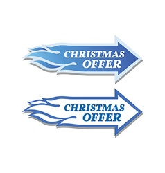 Christmas offer stickers set Arrow and flame vector image