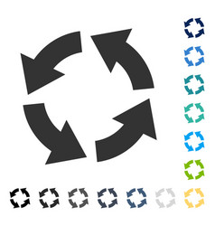 Circulation icon vector