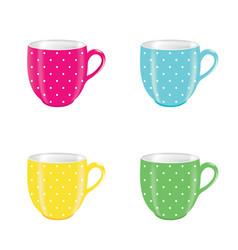 coffee mug set vector image