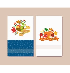collection of labels and elements for Thanksgiving vector image