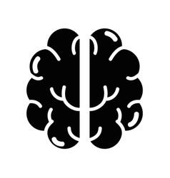 Contour creative brain and mental healthy vector