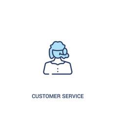 Customer service concept 2 colored icon simple vector