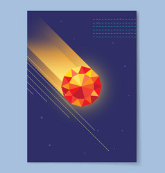 Dark wallpaper with diamond vector
