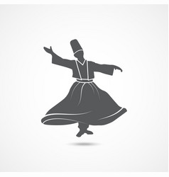 dervish dance icon vector image