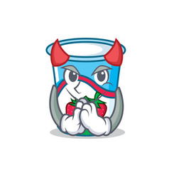 Devil yogurt mascot cartoon style vector