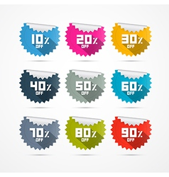 Discount Stickers Labels vector image