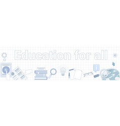 education for all word on squared background vector image
